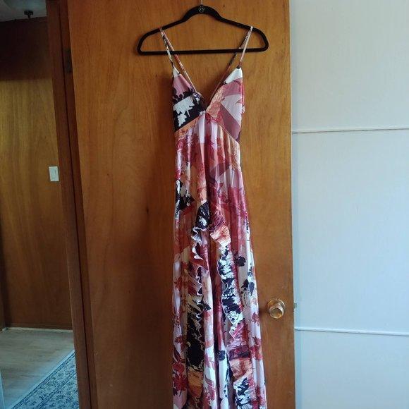 NWT ASOS DESIGN strappy maxi dress ruffle sz 4